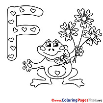 Frog Kids Alphabet Coloring Pages