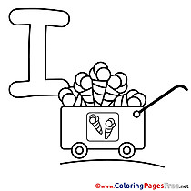 Ice Colouring Sheet download Alphabet