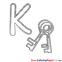 Key Alphabet Coloring Pages download