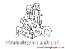 Alphabet School Colouring Sheet download free