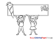 Alphabet School download printable Coloring Pages
