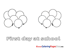 Balloons for Kids printable Holiday Colouring Page