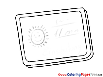 Board School free Colouring Page download