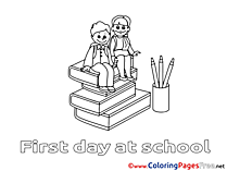 Books Pupils download Colouring Sheet free