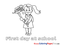 First day at school coloring pages