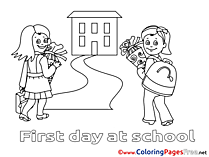 Bouquet School free printable Coloring Sheets