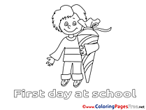 Boy Children Coloring Pages School free