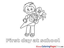 Boy Coloring Sheets download School free