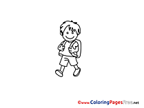 Boy free Colouring Page download School