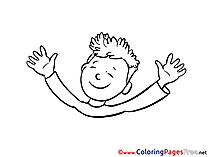 Boy School Coloring Pages for free