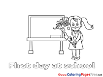 Chalkboard Girl Coloring Sheets download free