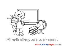 Chalkboard Pupil printable Coloring Sheets download