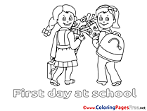 Children printable Colouring Page School