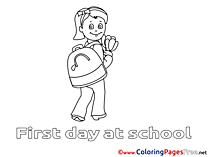 Children School free Coloring Pages