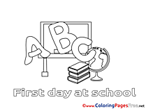 Classroom Colouring Sheet Alphabet download free