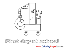 Crane School for free Coloring Pages download