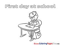 Desk Pupil download printable Coloring Pages