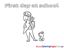 Dog download printable Pupil Coloring Pages