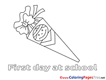Download Colouring Sheet School free