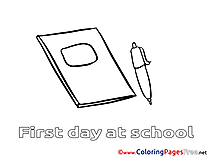 Exercise Book download Colouring Sheet free