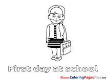 First Grader for free Coloring Pages download