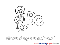For Children Boy free Coloring Pages Letters