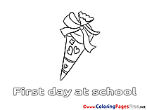 Free School Colouring Page download