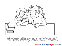 Friends Colouring Page School printable free