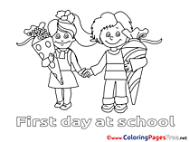 Friends School Colouring Page printable free
