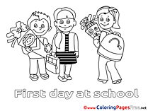 Friends School for free Coloring Pages download