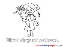 Girl free printable Coloring Sheets School
