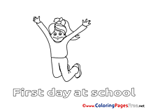 Girl printable Coloring Pages for free School