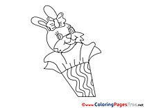 Hare Colouring Page printable free School