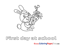 Hare School for free Coloring Pages download