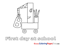 Image Crane printable Coloring Sheets School download
