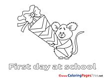 Koala Kids free Coloring Page School