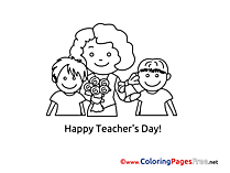 Mother Children printable Coloring Sheets download