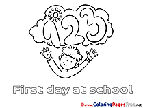 Numbers Boy Children download Colouring Page