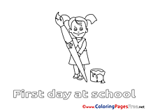 Painter Drawing Lesson free Colouring Page download
