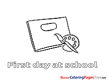 Paints School Coloring Pages for free