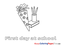 Pencils download printable Coloring Pages