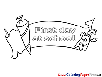 Poster download Colouring Sheet School free