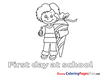 Printable Boy Coloring Pages for free School