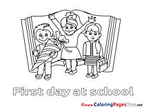 Pupils School Children Coloring Pages free