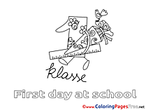 Ruler printable School Coloring Sheets download
