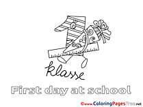 Ruler School Kids free Coloring Page