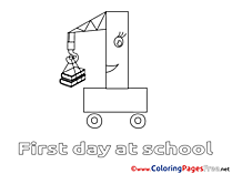 School for Children free Coloring Pages