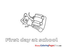 Schoolbag Children download Colouring Page