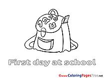 Schoolbag printable Coloring Sheets download