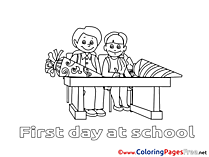 Student writes Coloring Sheets download free